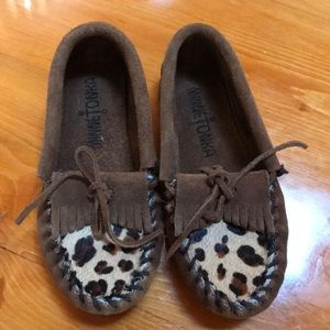 Minnetonka leopard moccasins